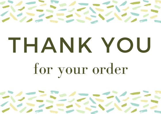 thank you for your order customer thank you wording