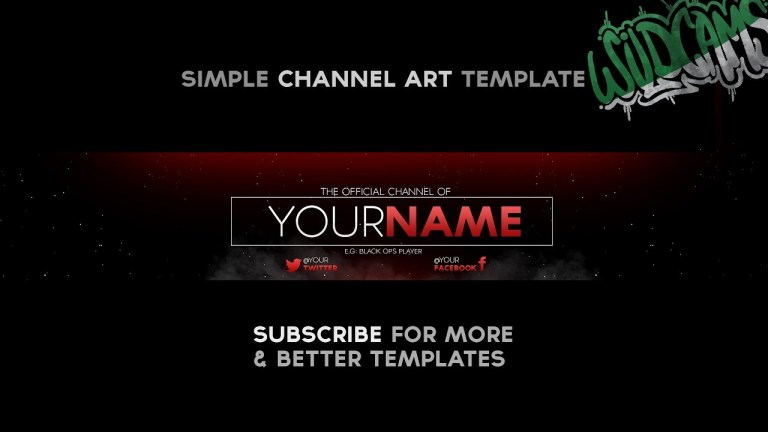 wildcams simple channel art template youtube