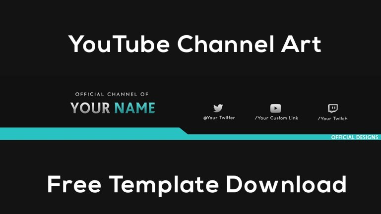 youtube channel art free template download photoshop