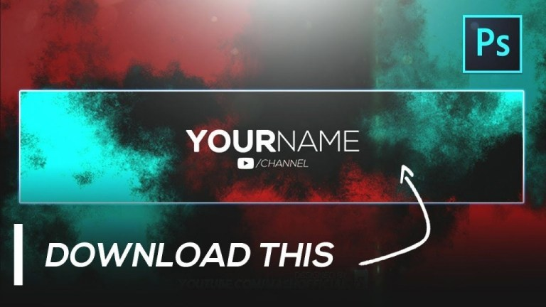 youtube channel art template photoshop download addictionary
