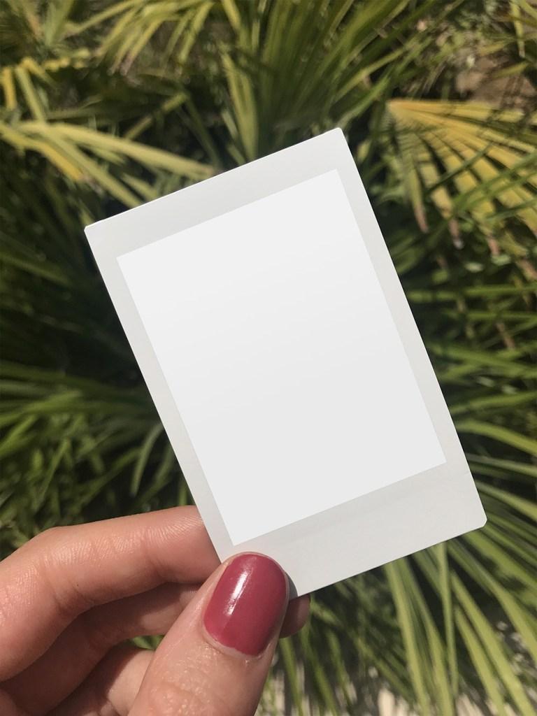 Holding polaroid frame