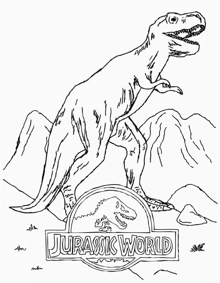 Best jurassic world coloring pages