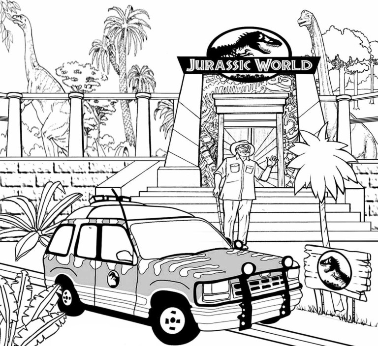 jurassic world coloring pages For Kids