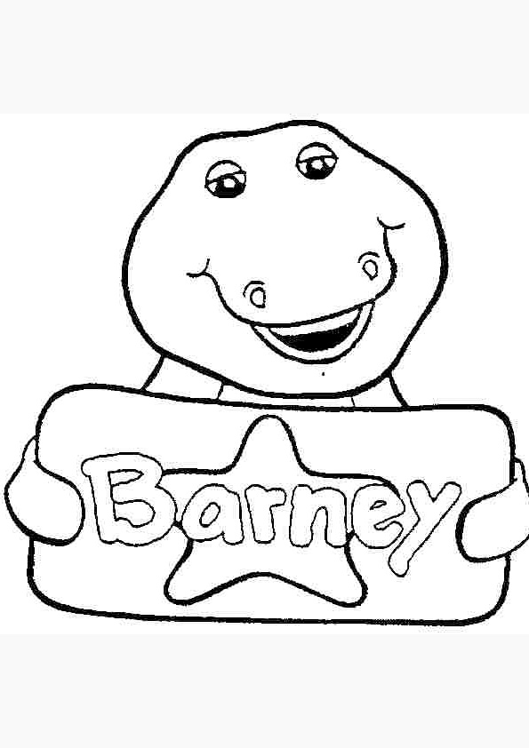 Barney Coloring Picture