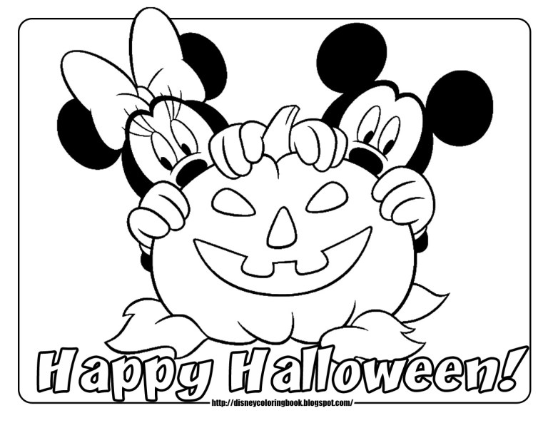 Cute Halloween Coloring Pages Disney