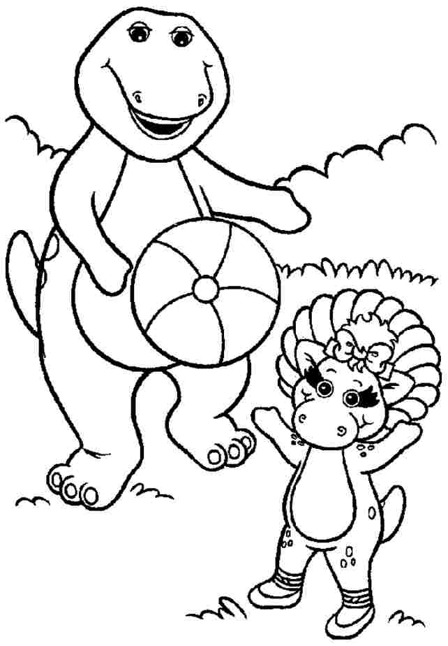 Free Coloring Pages Barney
