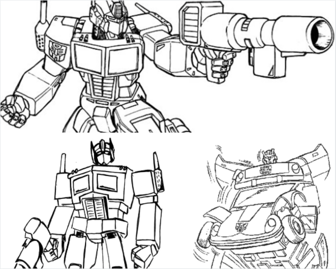 Free download transformers coloring pages for kids