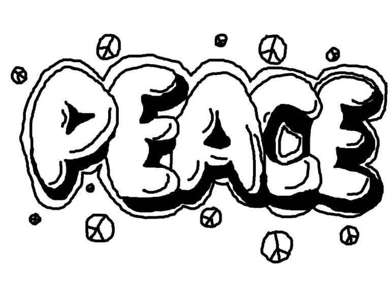 Graffiti Coloring Pages for Your Children