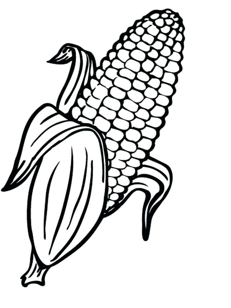 Candy Corn Coloring Page For Kids