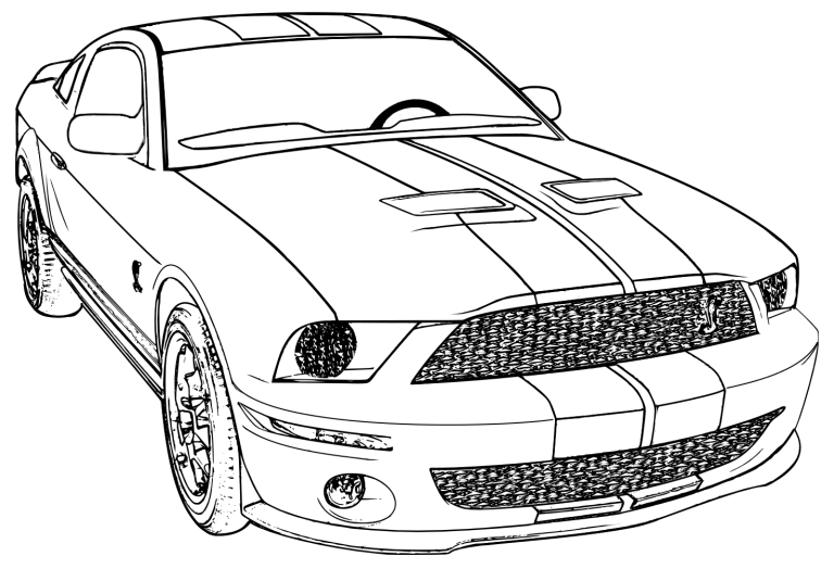 Car Coloring Pages For Adult