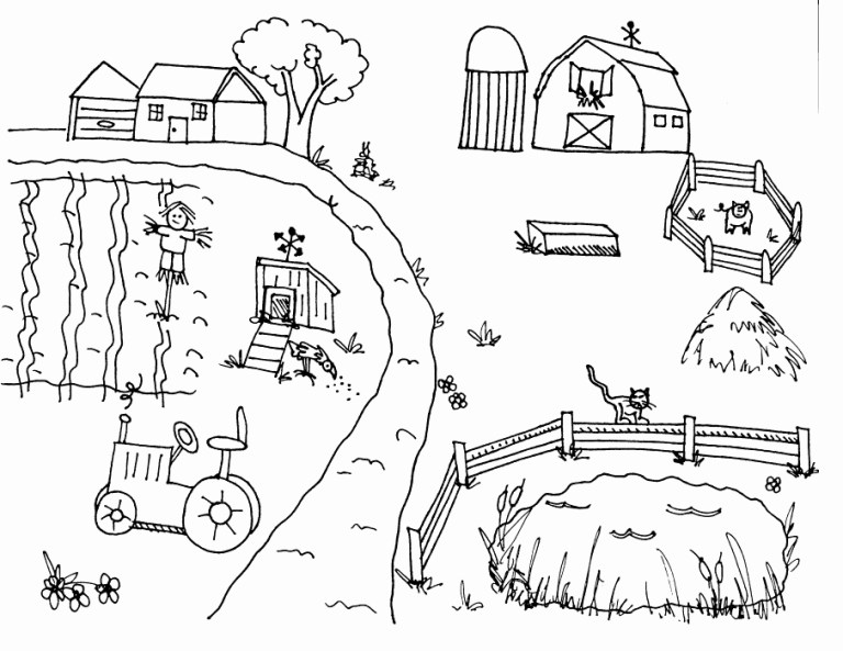 Free Barnyard Coloring Pages Pictures Onnline