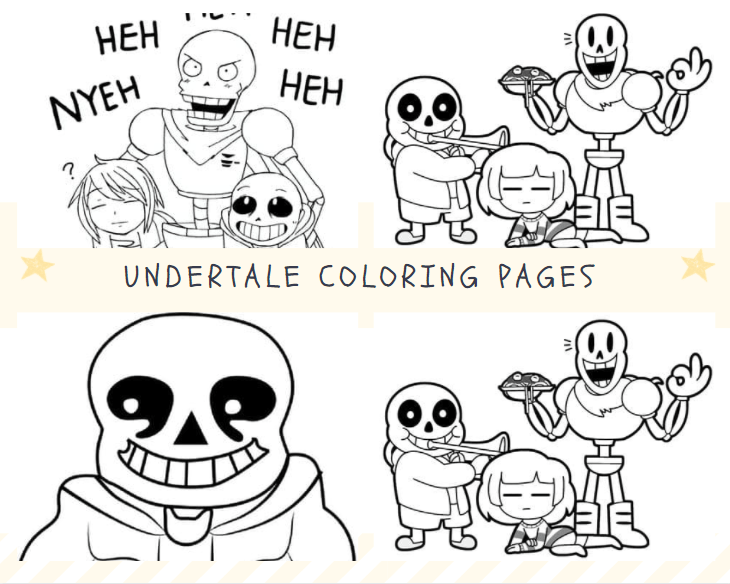 Free Download Undertale Coloring Pages Printable