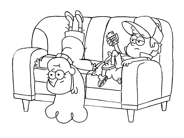 Gravity Falls Coloring Pages Printable