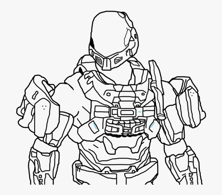 Halo Coloring Sheet