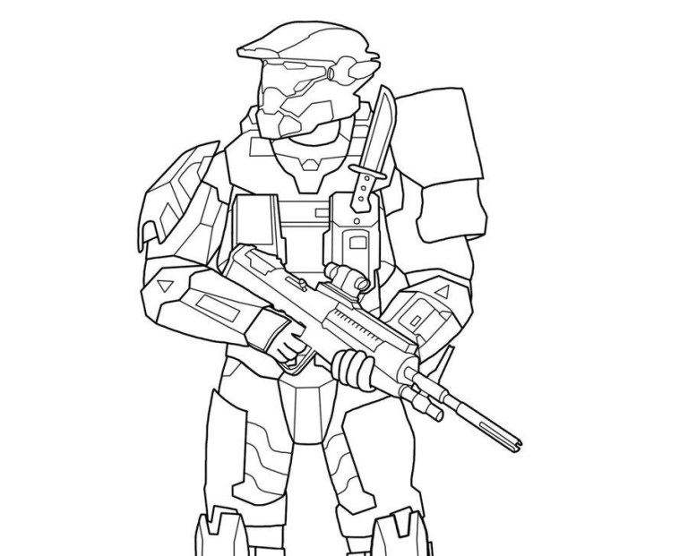 Halo Coloring To Download