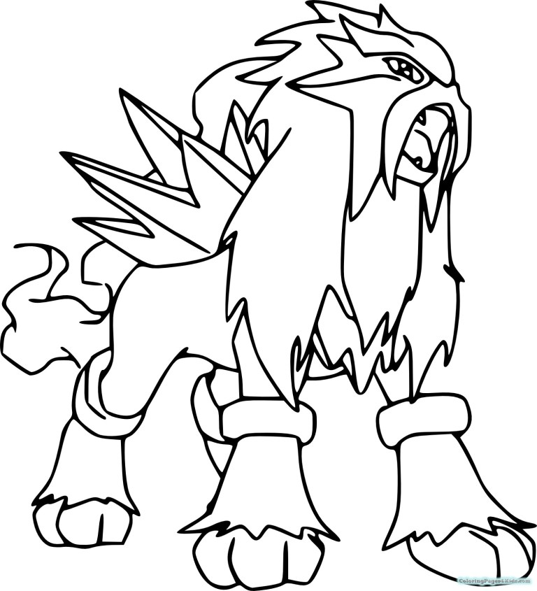 Legendary Pokemon Coloring Pages For Kids