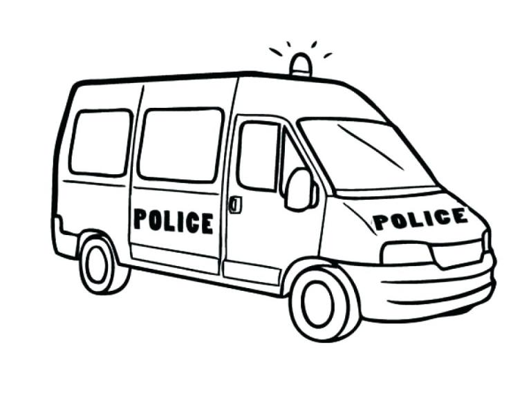 Police Car Coloring Pages Printable Ambulance