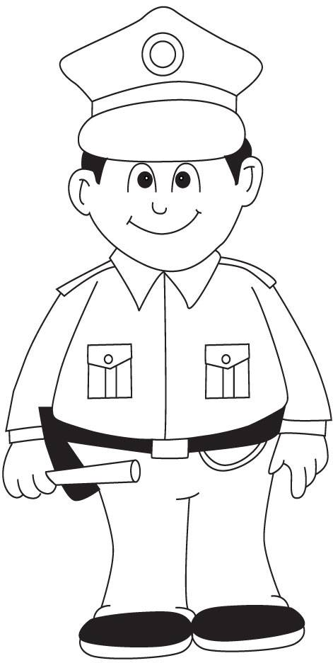 Police Coloring Picture