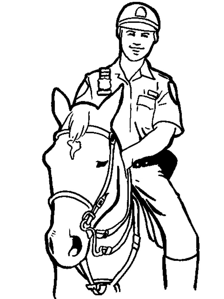 Police Horse Coloring