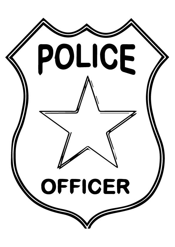 Police Logo Coloring Pages For Preschoolers