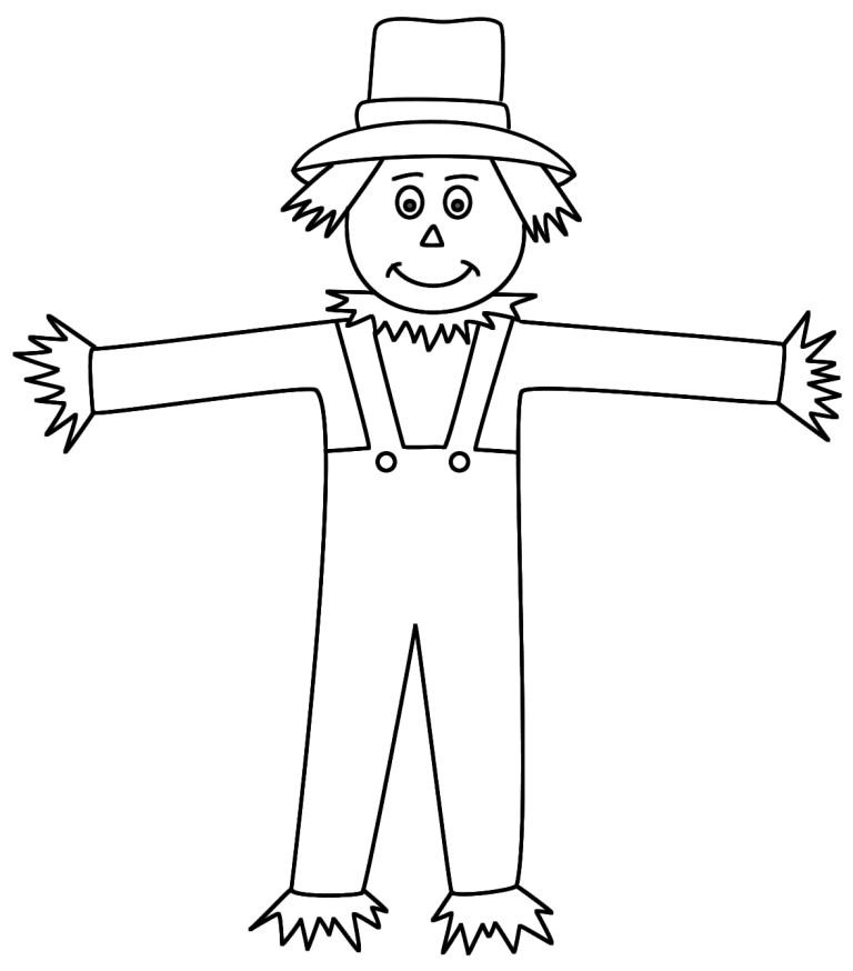 Scarecrow Coloring Page For Adult