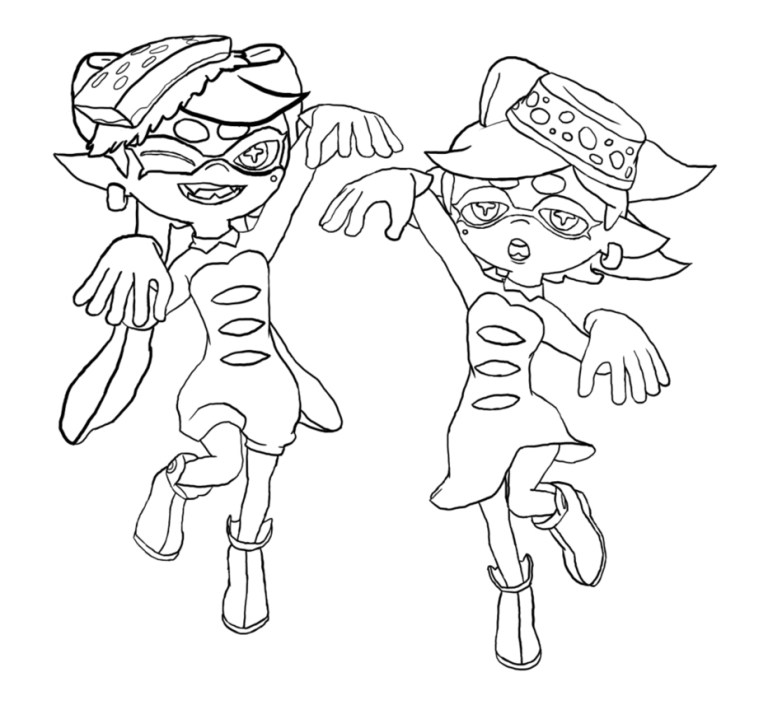 Splatoon Coloring Pages For Adult