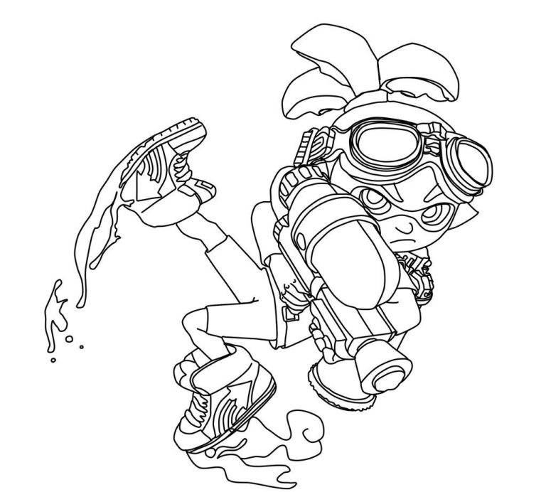 Splatoon Coloring Picture