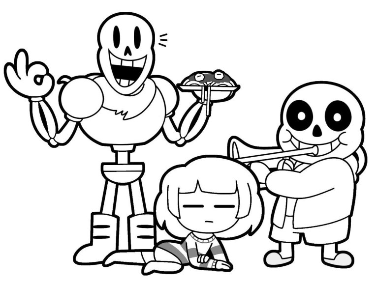 Undertale Coloring Page