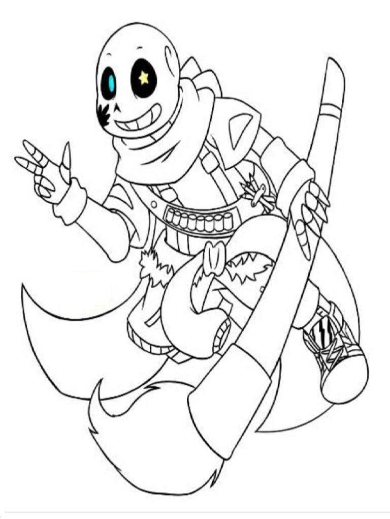 Undertale Coloring Sheets