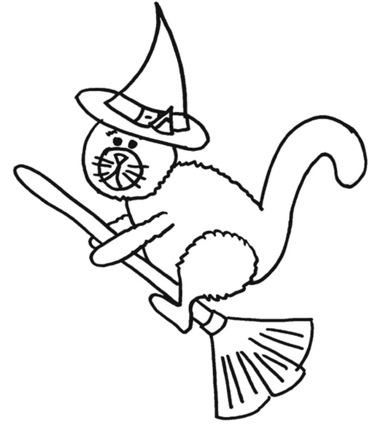 cat halloween coloring pages free printables online or offline