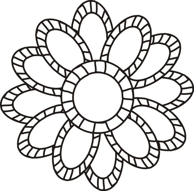 cute flower coloring pages