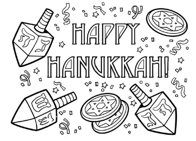 free Hanukkah Coloring