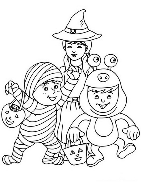 fun and spooky halloween coloring pages costumes guide drawing