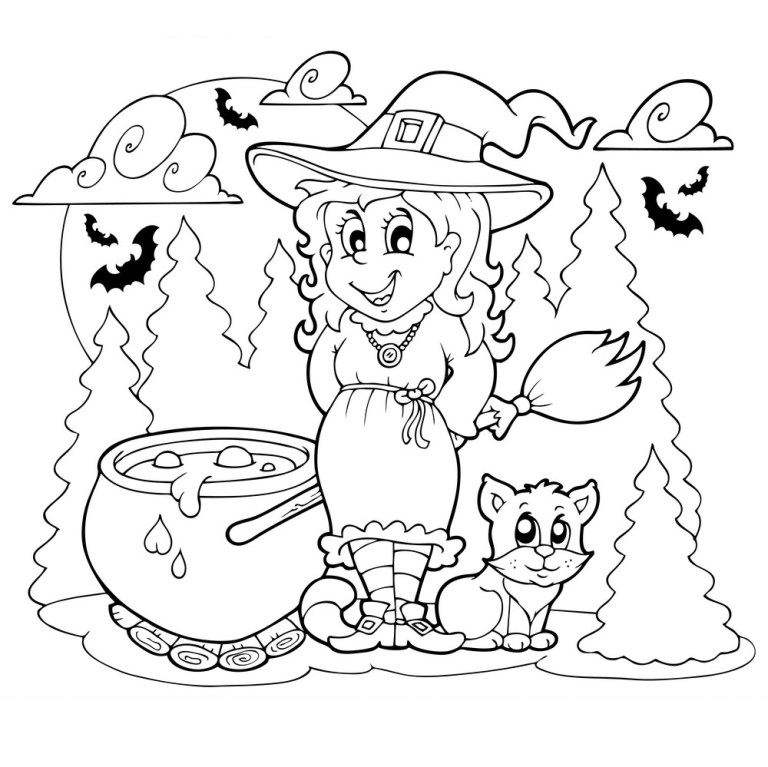 girls halloween coloring pages updated 2021 2022