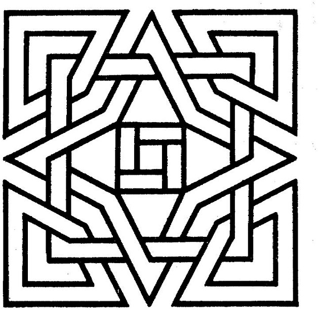 3D geometric shapes cartoon