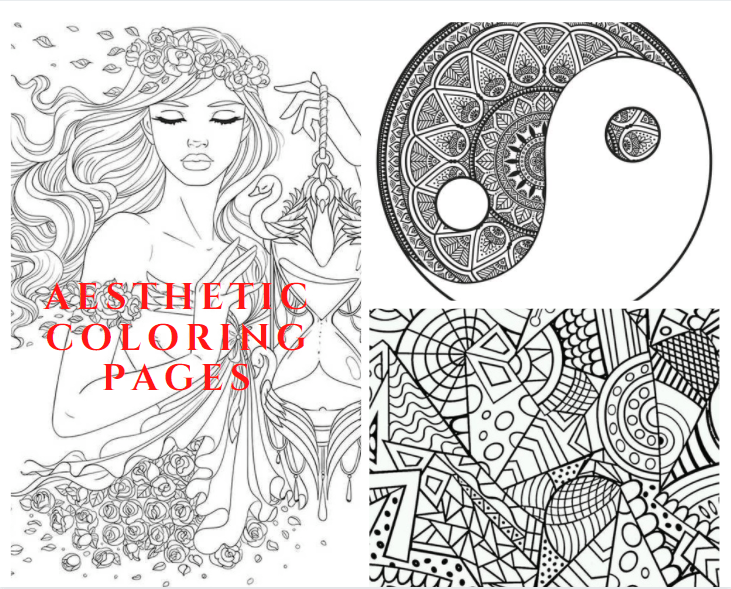 Aesthetic Coloring Pages