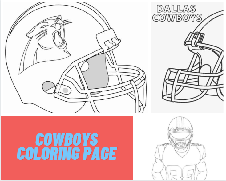 Cowboys Coloring Page