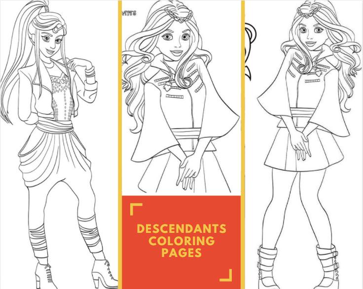 Descendants Coloring Pages