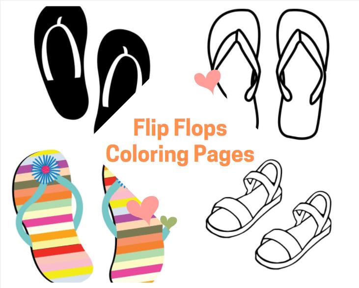 Flip Flops Coloring Pages