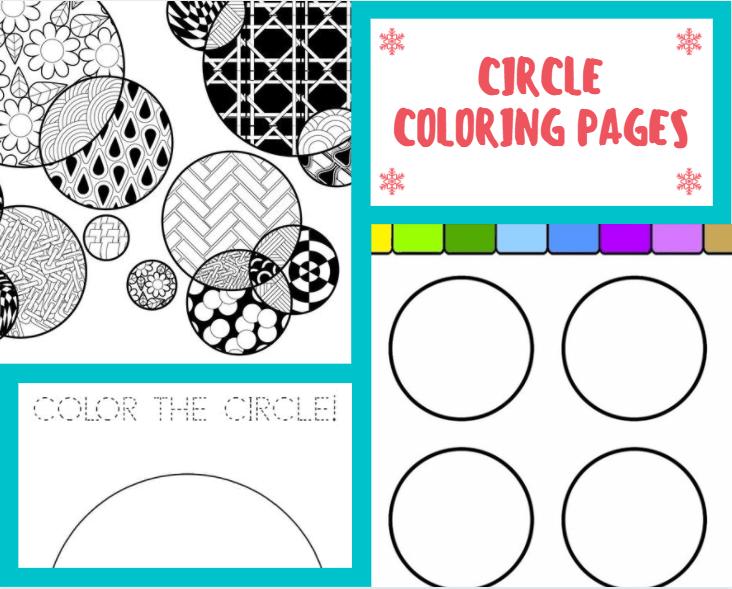 Free Circle Coloring Sheet