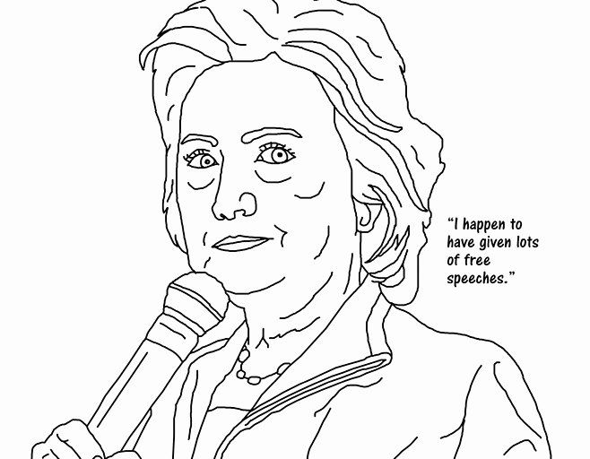 Pictures Of Hillary Clinton Coloring Page