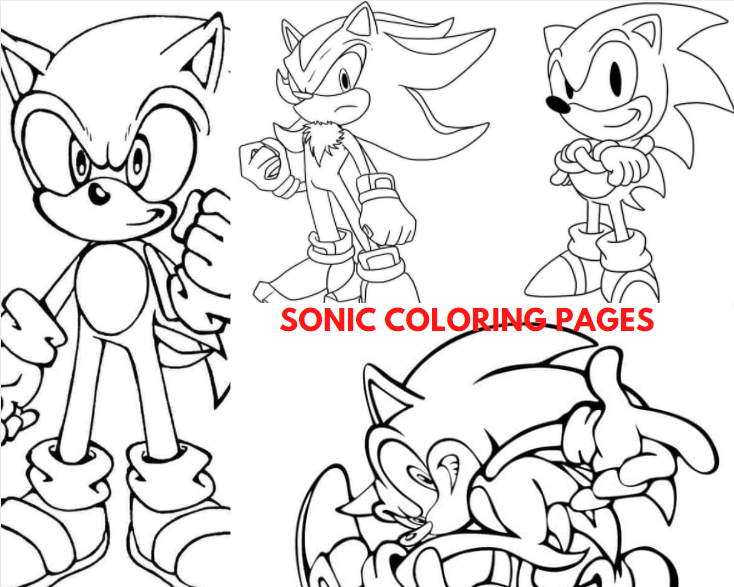 Sonic Pictures to Color
