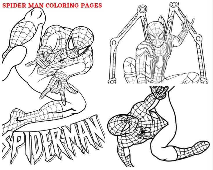 Spider Man Coloring Sheets