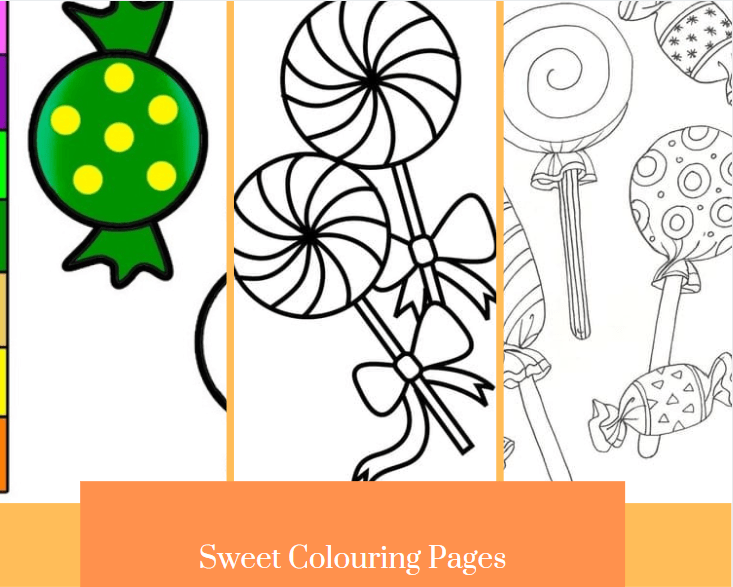 Sweet Colouring Pages