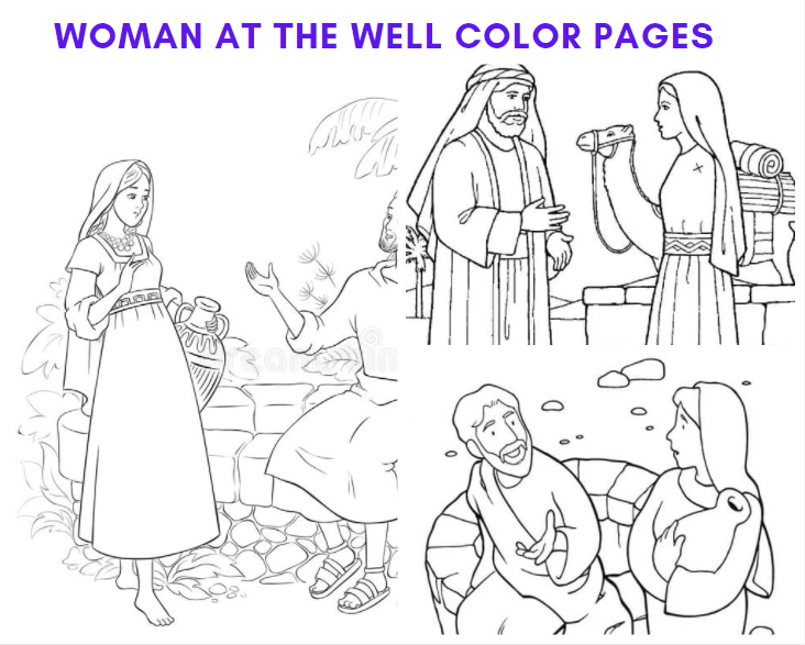 Woman at The Well Color Pages