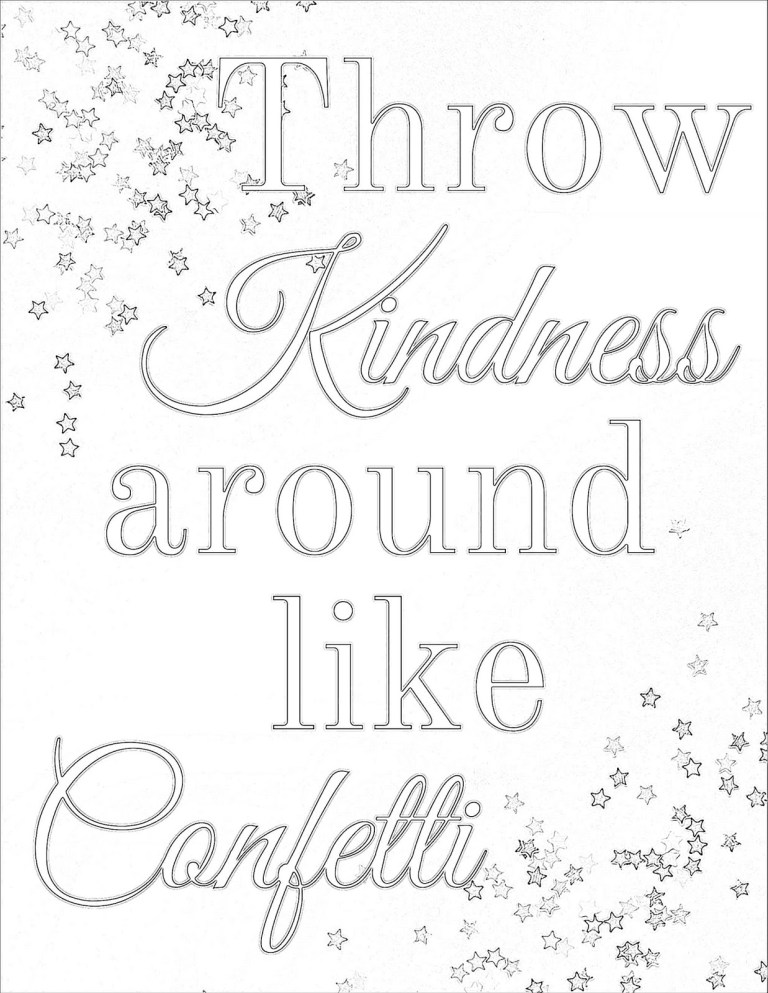 Acts Of Kindness Coloring Pages