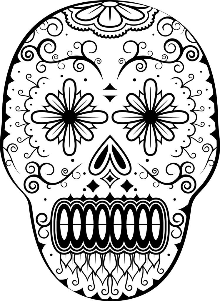 all motif dia de los muertos