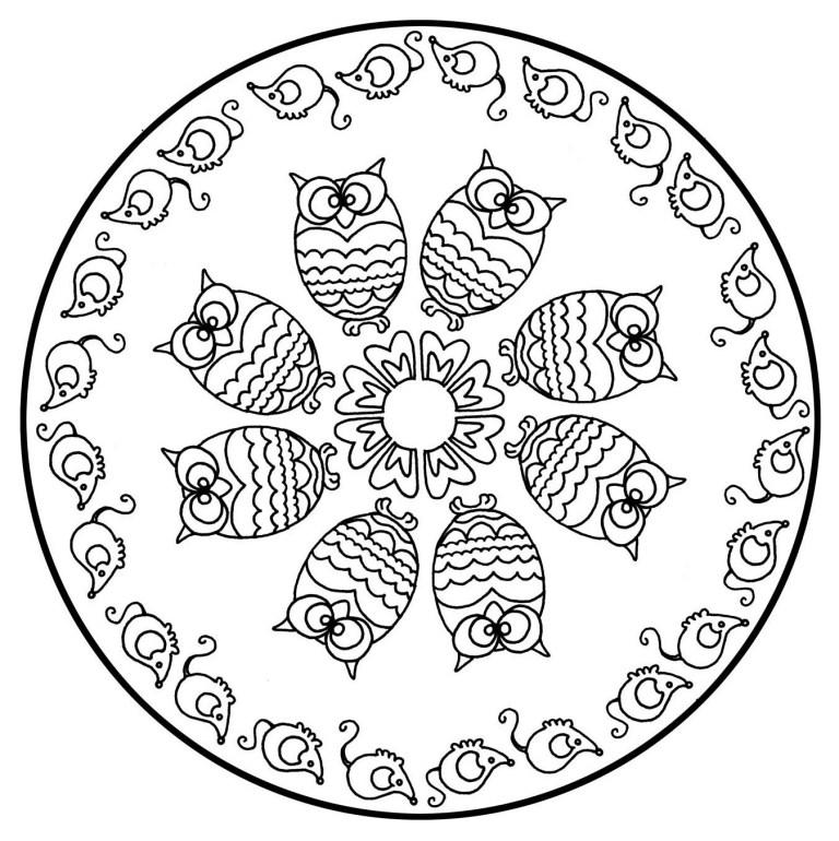 animal mandala coloring pages free printable