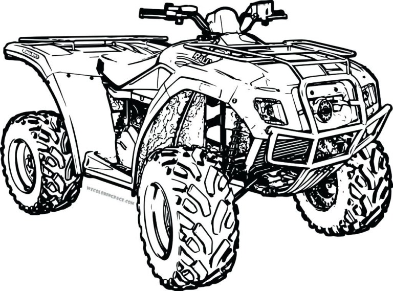atv coloring page images