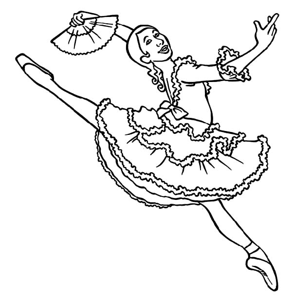 Ballet Dancer Coloring Page